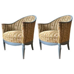 Pair of French Art Deco Style Armchairs