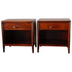 Mid-Century Modern Walnut Nightstands by Widdicomb Furniture Co.
