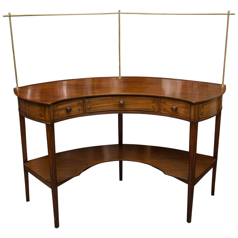 George III Mahogany Concave Server For Sale