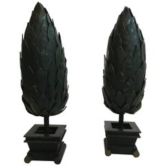 Pair of Metal Topiaries