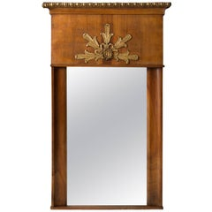 19th Century French Empire Trumeau Mirror