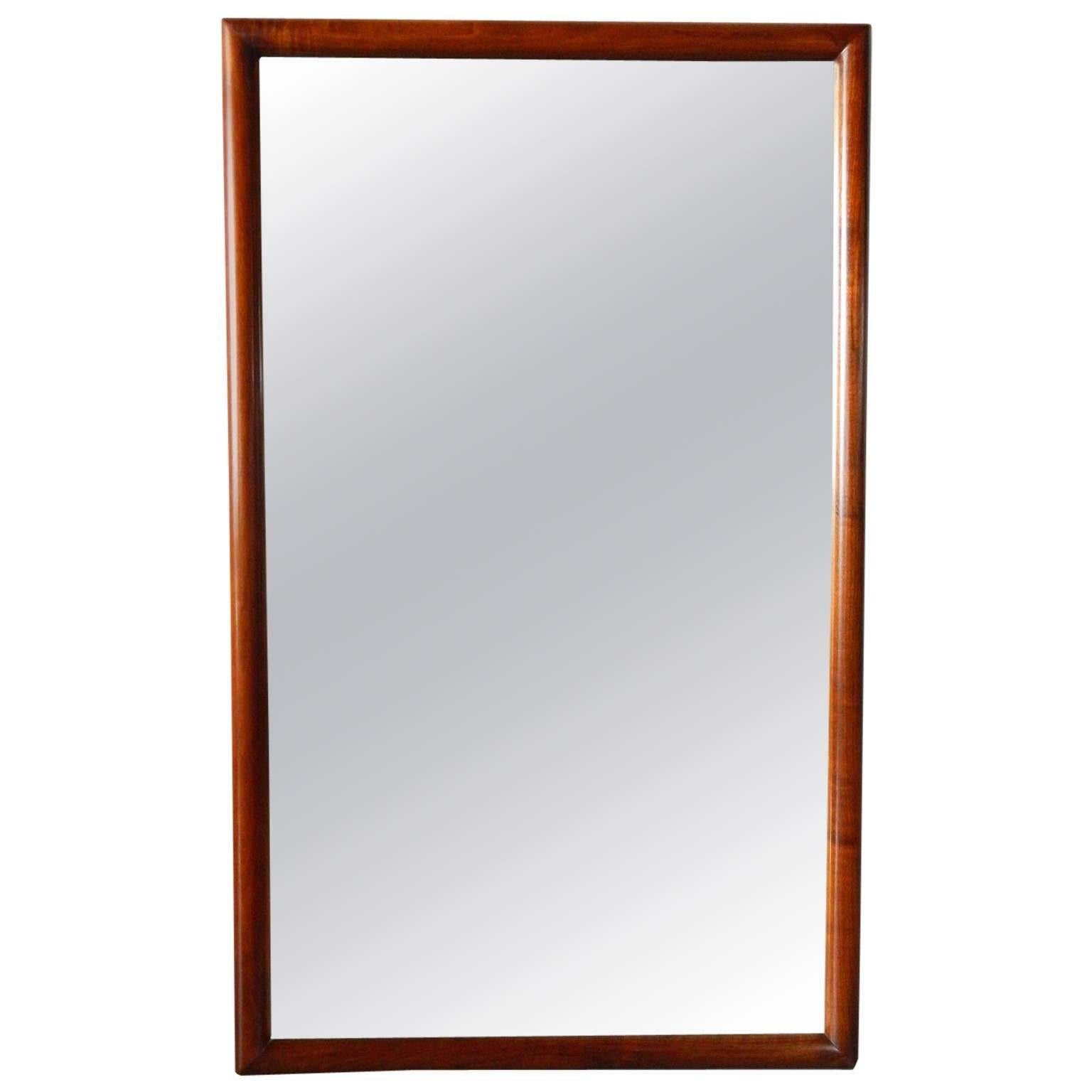 Mid Century Modern Walnut Mirror By Widdicomb Furniture Co. 1