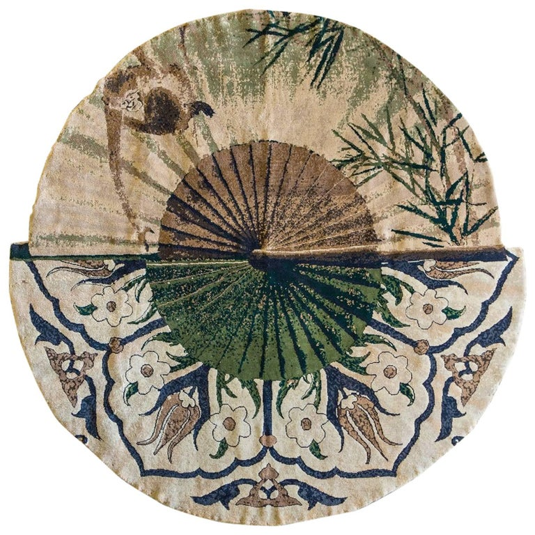 Singe Rug in Hand-knotted New Zealand Wool  For Sale