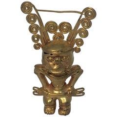 Pre Columbian Gold Figure, High Priest