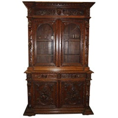 Gorgeous 19th Century, French Black Forest Cabinet