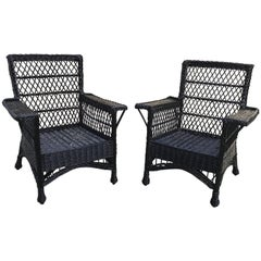Antique Bar Harbor Wicker Willow Chairs