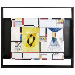 James McCray, 1945 Abstract Geometric San Francisco Museum of Art Exhibition Tag