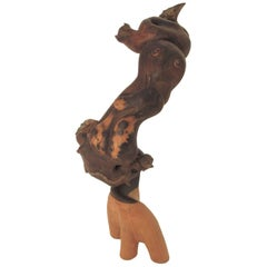 Signed, 1974, Folk Art Animalist Sculpture