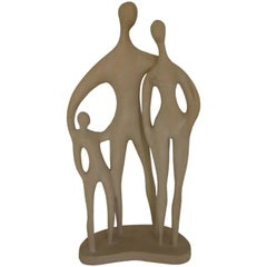 Biomorphic Modern Family Sculpture by Renard for Austin Productions, 1979