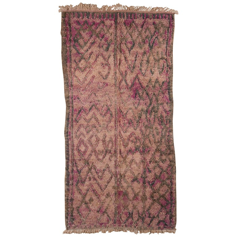 Vintage Moroccan Rug, 20th Century For Sale