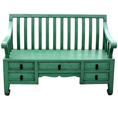 Green Asian Bench, Settee