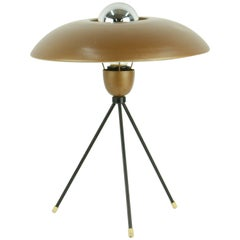 Very Rare Louis Kaiff Tripod UFO Table Lamp for Phillips
