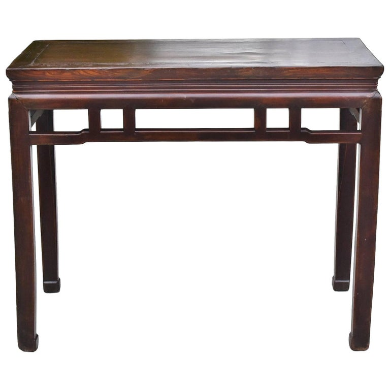 Chinese Antique Side Table, Ming Style, Double Sided For Sale