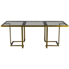 Romeo Rega Expandable Brass Dining Table