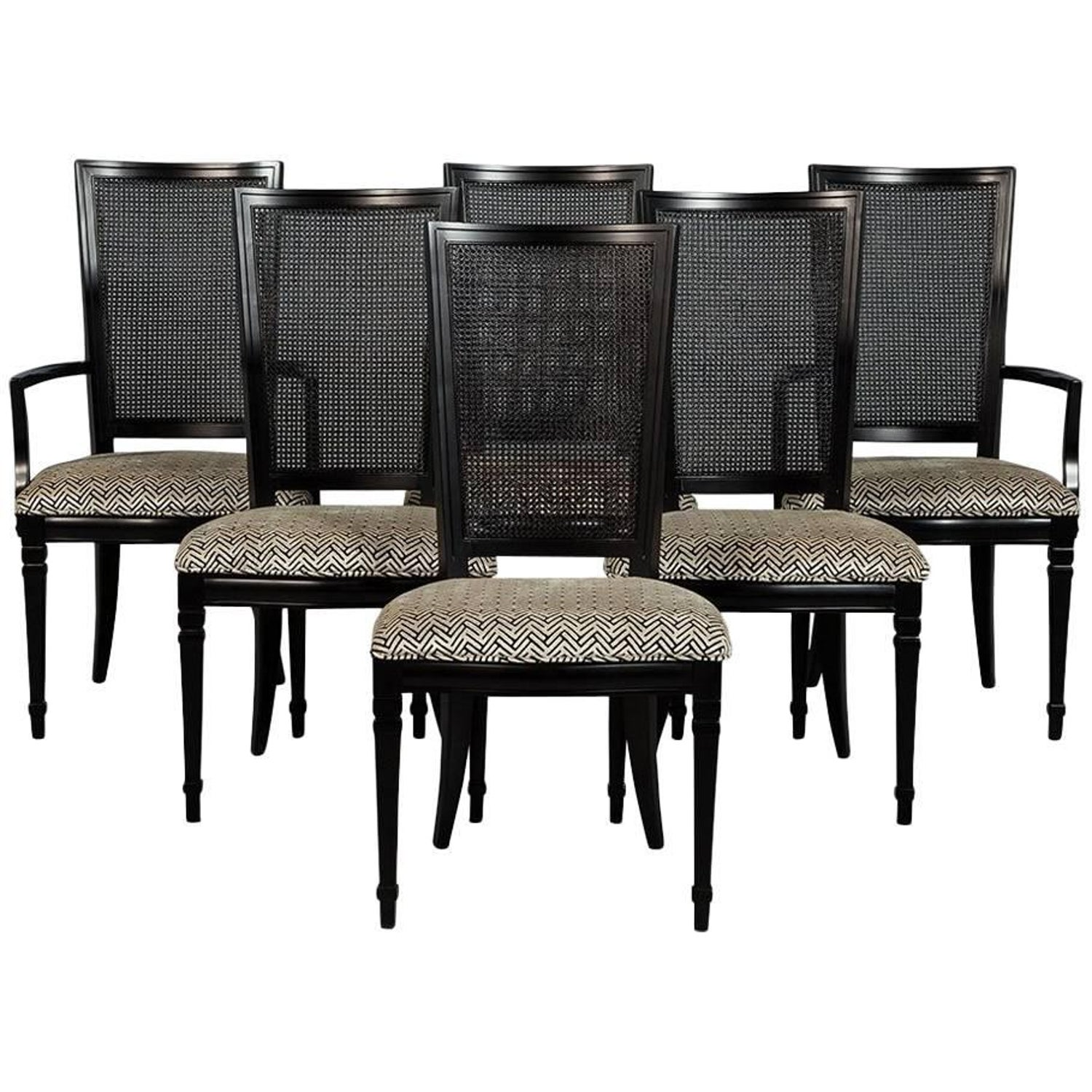 Cane Back Dining Chairs 185 For Sale on 1stdibs