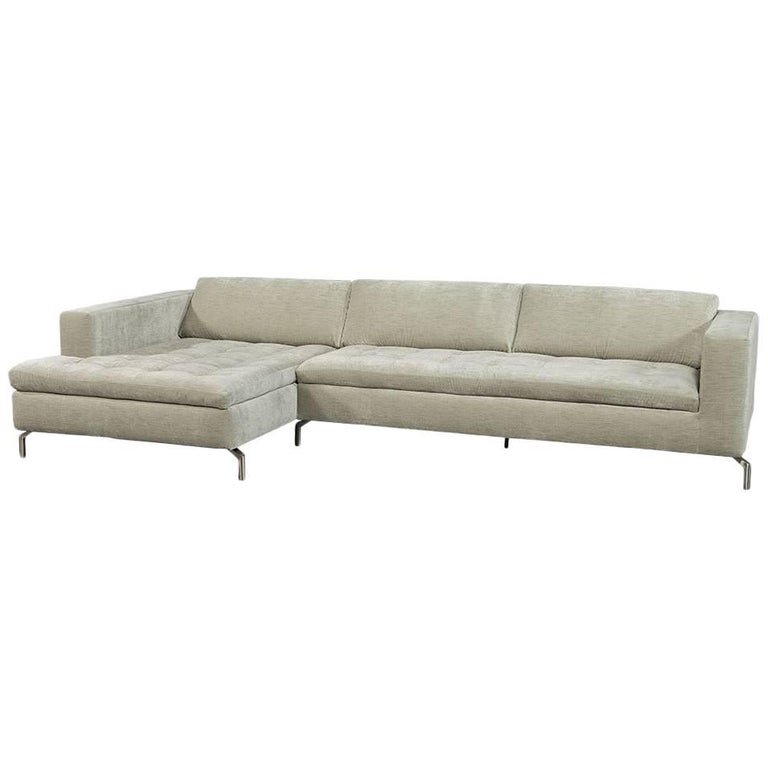 Grey velvet natuzzi sectional sofa for sale at 1stdibs for Gray sofas for sale