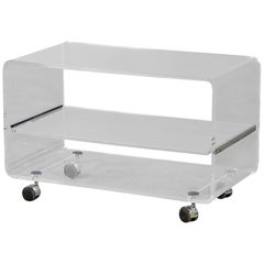 Acrylic Bar Console Cart
