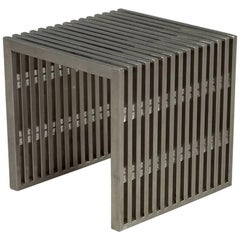 Stainless Steel Accent Side Table
