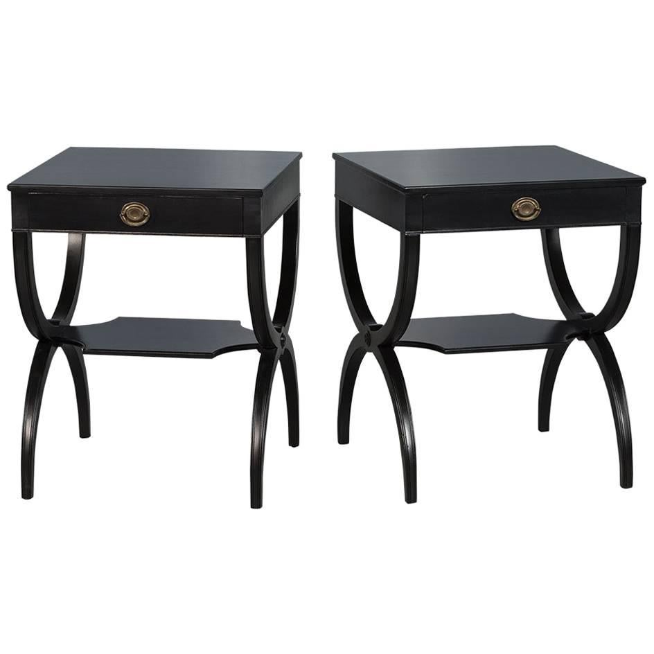 Pair Of Ebonized Mahogany Regency Style Table Stands