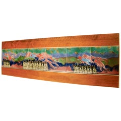 Harris Strong Colorful Tile Figural Wall Hanging