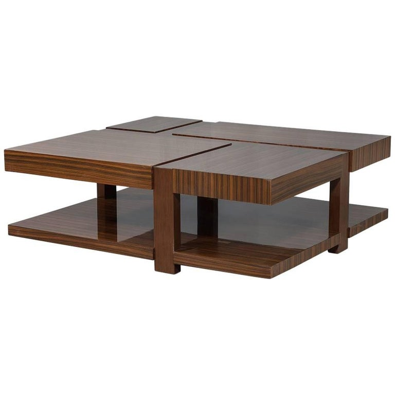 Modern zebrano cocktail table for sale at 1stdibs for Cocktail tables and chairs for sale