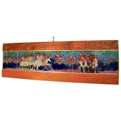 Harris Strong Colorful Tile Mosaic Figural Wall Hanging