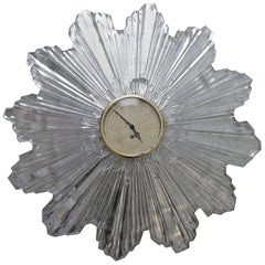 Sunburst Glass Clock by Laurence Colwell from the 1930s