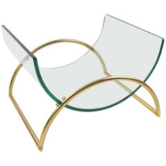 Italian Gallotti and Radice 1970s Sculptural Magazine Rack Holder