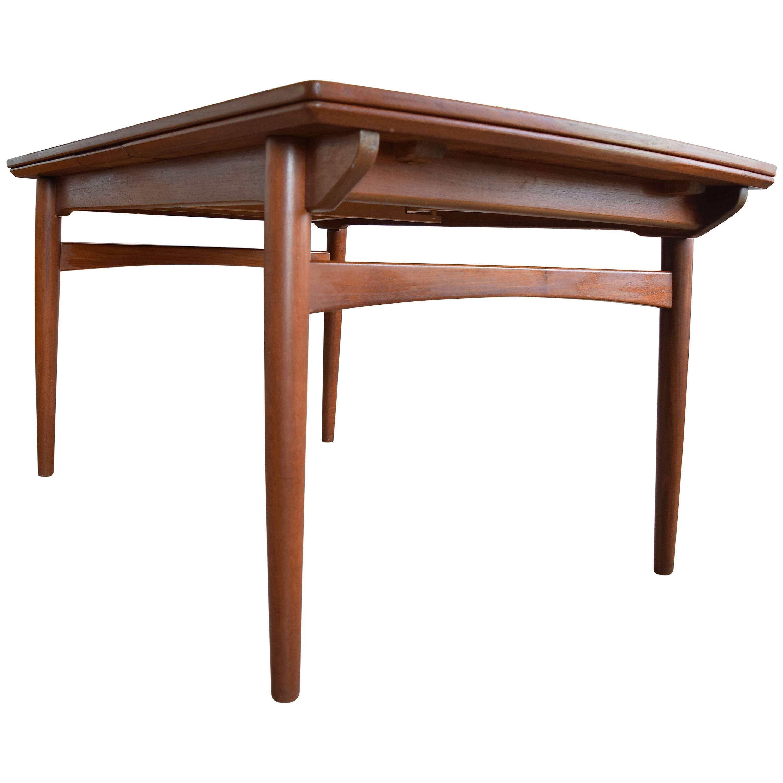 Danish Teak Dining Table, 1960s For Sale