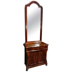 Fabulous French 19th Century Mahogany Empire Period Cabinet with Mirror
