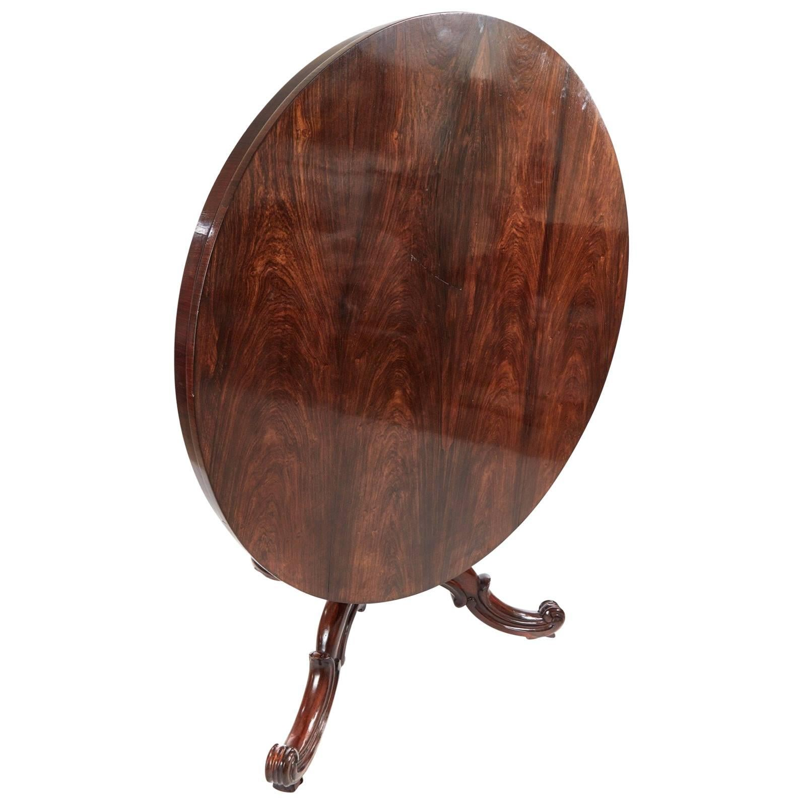 Victorian Round Rosewood Centre Table