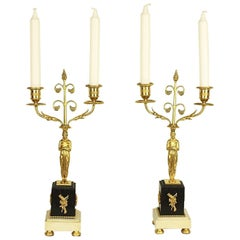 Pair of Louis XVI Two-Light Gilt Bronze Candelabra 'au Gout GrèCque'