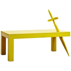 """""""Heroes"""" Lacquered Wood Console Table by Alberto Biagetti, 1999"""
