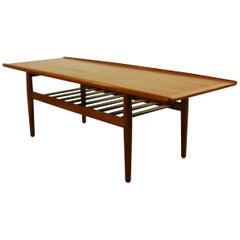 Coffee Table in Teak by Grete Jalk, Denmark, 1960s