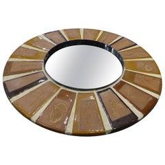 Roger Capron Beautiful Ceramic Mirror, circa 1960