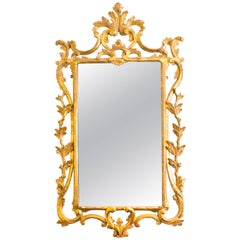 Antique Italian Florentine Carved Giltwood Mirror, 19th Century