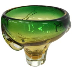 Italian Murano Glass Vase by Flavio Poli for Seguso