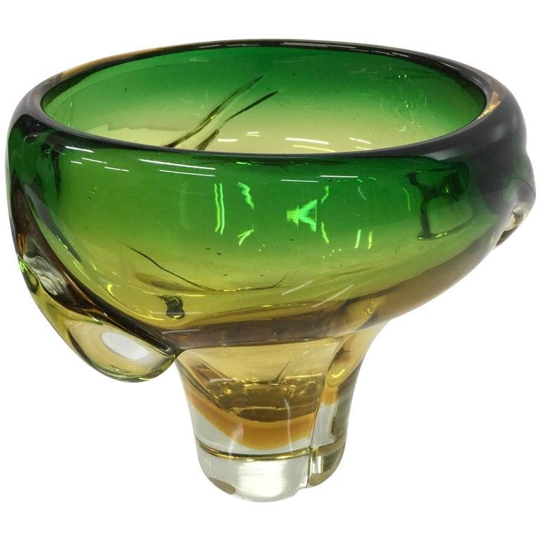 Italian Murano Glass Vase by Flavio Poli for Seguso