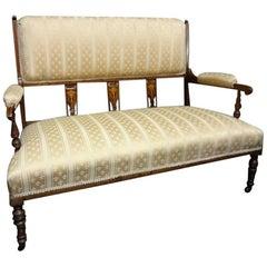 Good Edwardian Period Rosewood Inlaid Settee