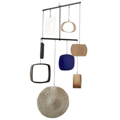 Large Handmade Ceramic and Glass Mobile by Daniel Reynolds the New Craftsmen