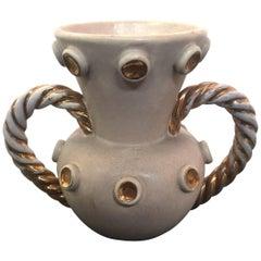 Louis Giraud Ceramic Vase, Vallauris, circa 1970
