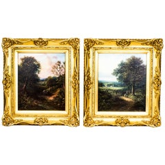 Antique Pair of Oil Paintings Edwin Buttery, 1839-1908