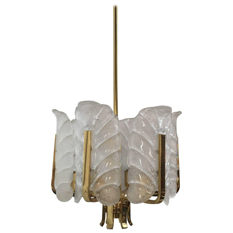 Orrefors Chandelier Pendant Light by Carl Fagerlund, 1980s