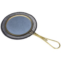 Exquisite Hand Mirror in the Style of Mathieu Matégot