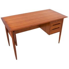 Mid-Century Modern Danish Teak Desk with chest of drawers and Library , 1950s