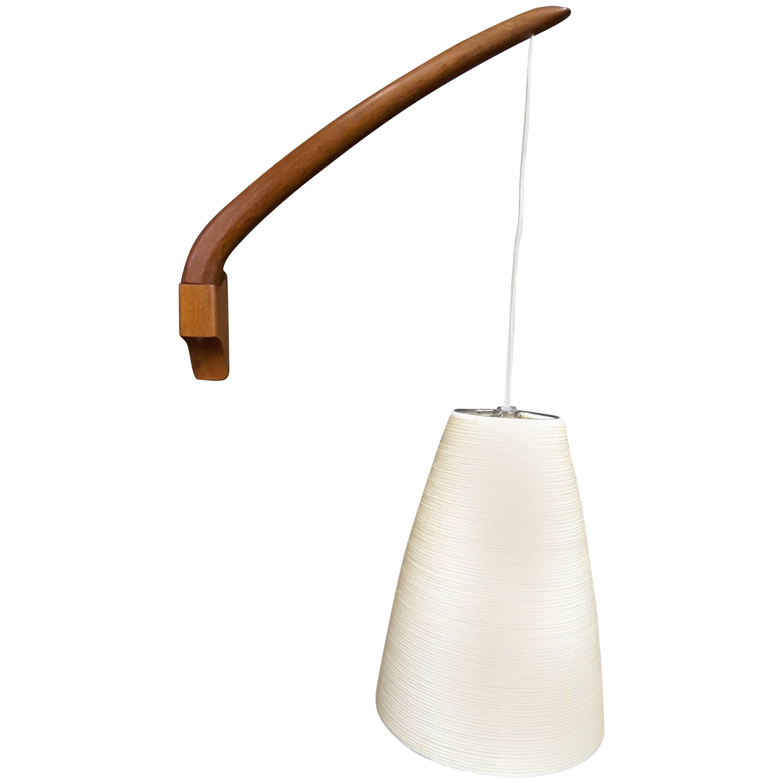 Great Lotte Teak Mid Century Swing Arm Adjustable Wall Light