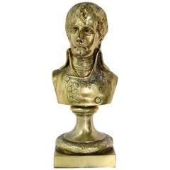 Rare Antique Silver Sculpture Young Napoleon