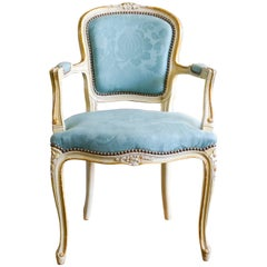 19th Century French Painted Armchair in Louis XV Style