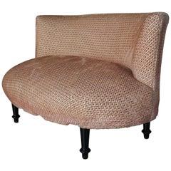Adorable Boudoir Sofa Bench Pink Toad Design, 1950s