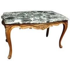 Good French 19th Century Walnut Coffee Table with Marble Top